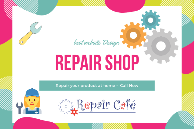 repair shop website